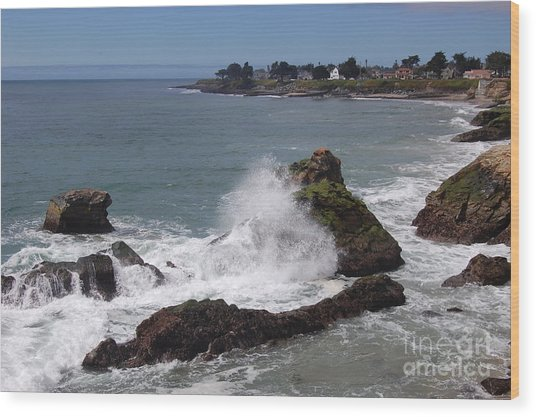 Ocean Spray West Cliff Wood Print