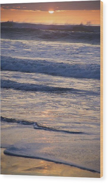 Ocean Sunset Wood Print by Joyce Sherwin