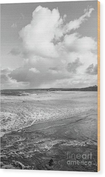 Ocean Texture Study Wood Print