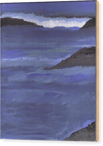 Ocean View Wood Print by Lynnette Jones