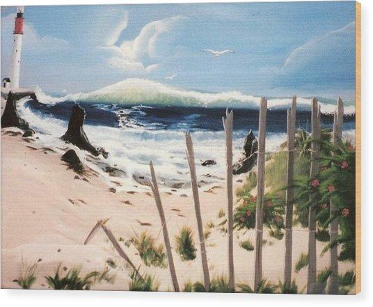 Oceans Breez Wood Print