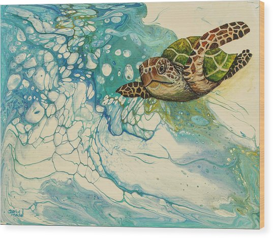 Wood Print featuring the painting Ocean's Call by Darice Machel McGuire