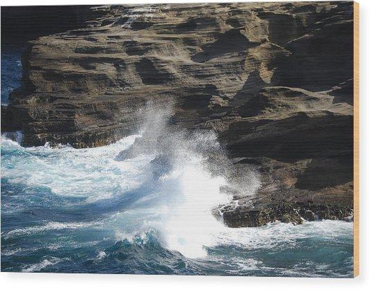 Oceans Wood Print by Lakida Mcnair