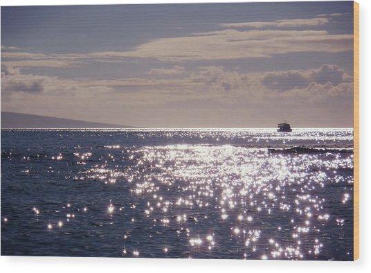 Oceans Light Wood Print by JAMART Photography