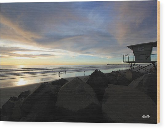 Oceanside 7  Wood Print