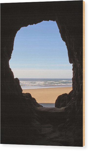 Oceanside Oregon Wood Print