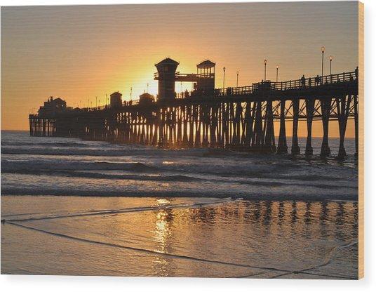 Oceanside Pier Wood Print
