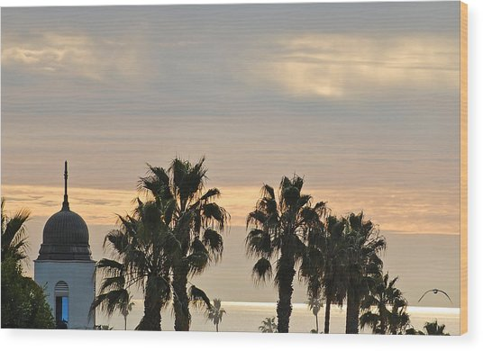 Oceanside Sky Wood Print by Jean Booth