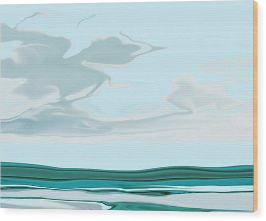 Oceanus Iv Wood Print by Pauline Thomas
