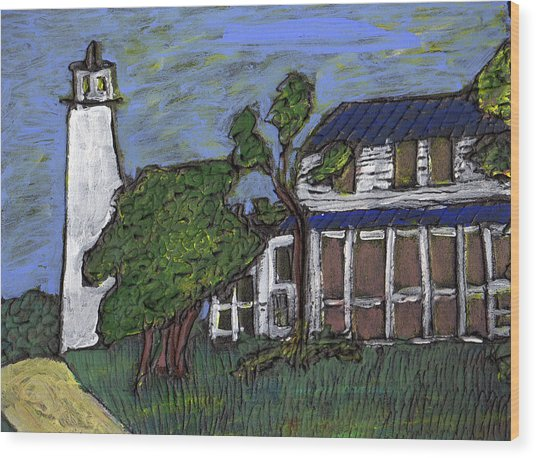 Ocracoke Island Light House Wood Print