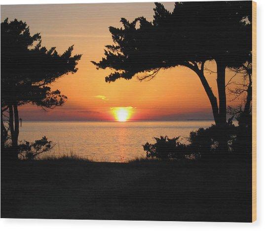 Ocracoke Island Winter Sunset Wood Print