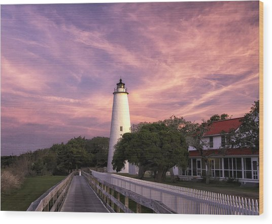 Ocracoke Lighthouse 01 Wood Print