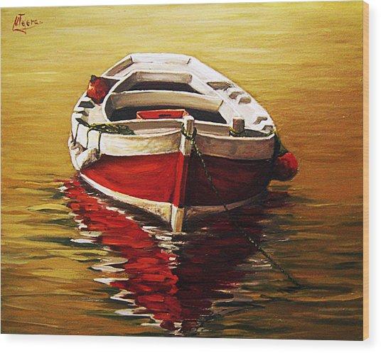 Ocre S Sea Wood Print