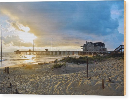 October 3 2016 Obx Sunrise Wood Print