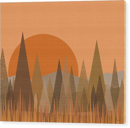 October Frost Wood Print