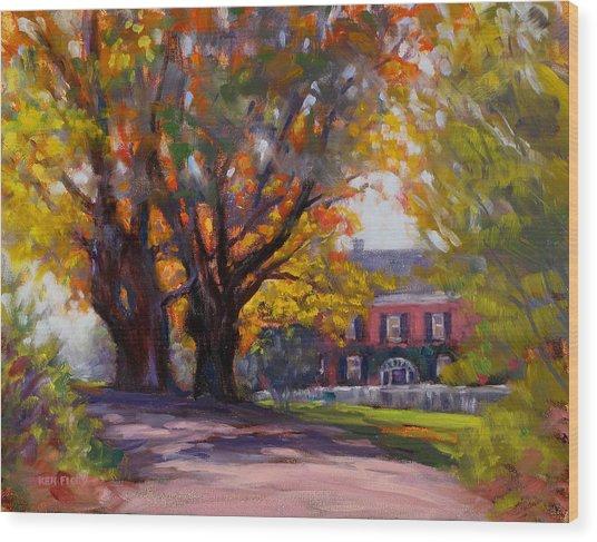 October Glory Wood Print