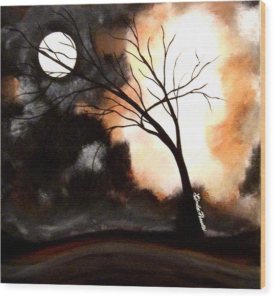 October Night 4 Wood Print by Linda Powell