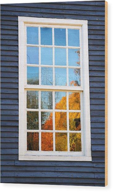 October Reflections 4 Wood Print