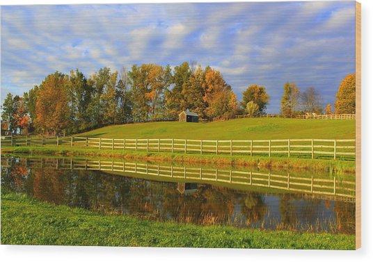October Reflections Wood Print