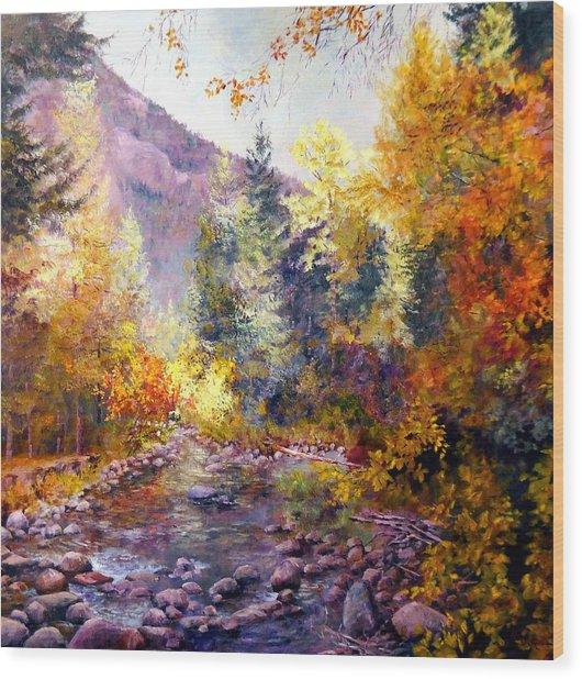 October River Wood Print