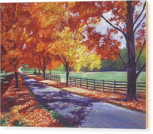 October Road Wood Print