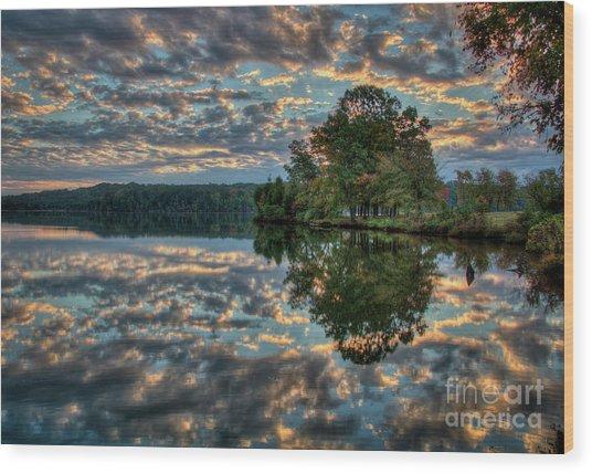 October Skies Wood Print