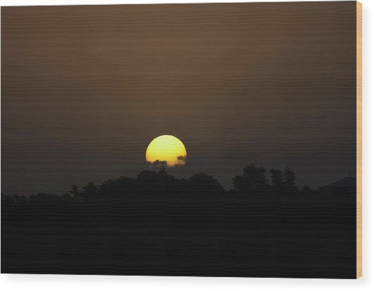 October Sunset Wood Print by Peter Hill