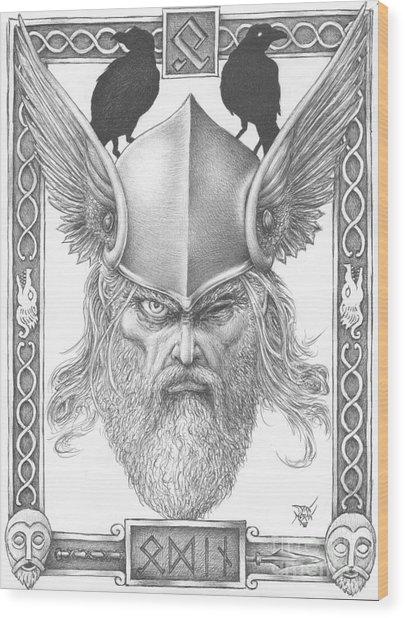 Odin Wood Print