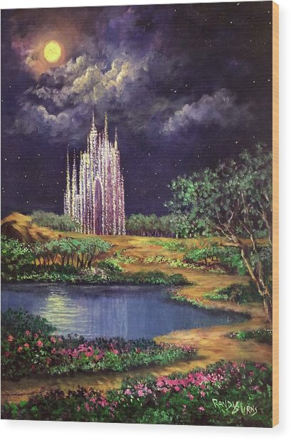 Of Glass Castles And Moonlight Wood Print