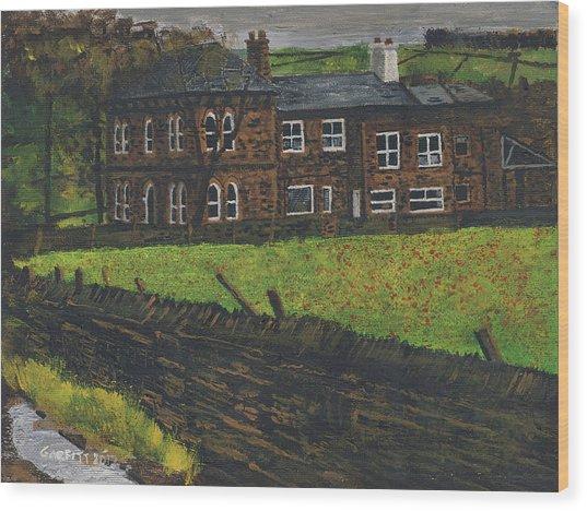 Off Hossock's Lane Wood Print