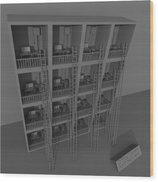 Office Seven Wood Print by Rolf Bertram