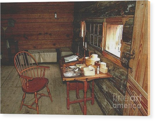 Officers Quarters Fort Stanwix Wood Print by Diane E Berry