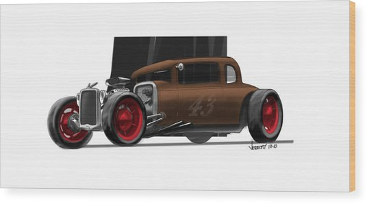 Og Hot Rod Wood Print by Jeremy Lacy