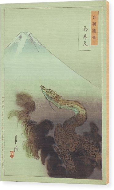 Ogata Gekko Dragon Wood Print