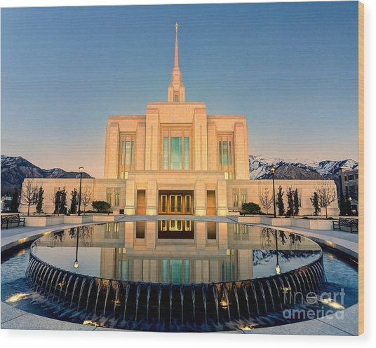 Ogden Lds Temple Wood Print