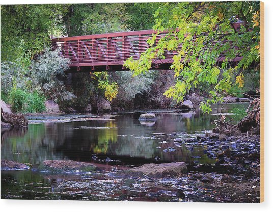 Ogden River Bridge Wood Print