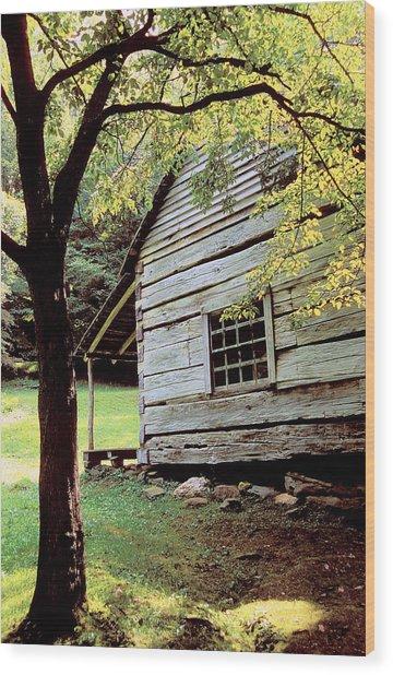 Ogle Cabin Wood Print by Alan Lenk