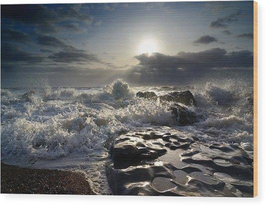 Ogmore By Sea Wood Print