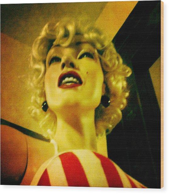 Oh Marilyn  Wood Print
