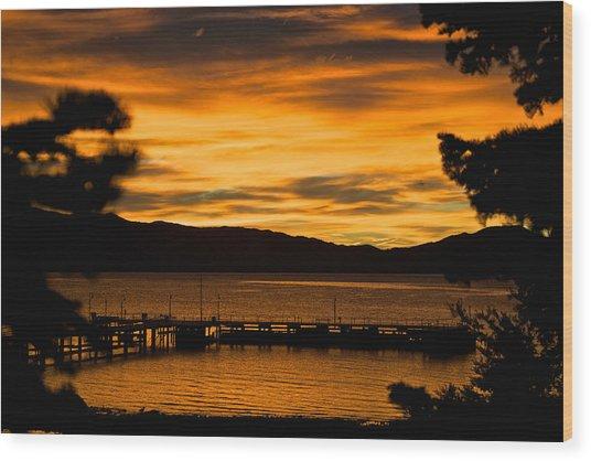 Oh Tahoe Glow Wood Print
