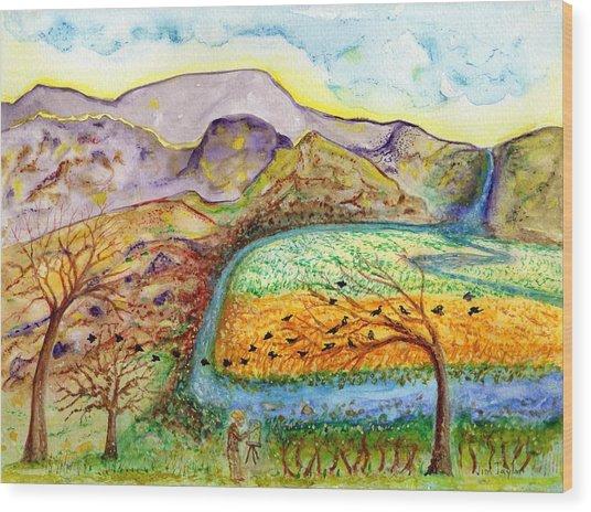 Oh Vincent Wood Print