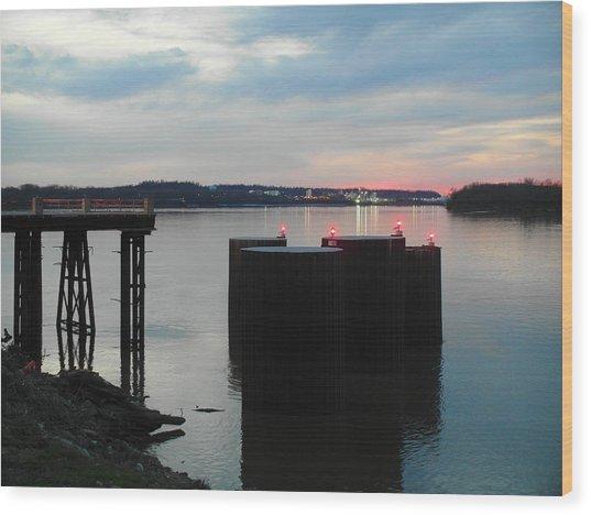 Ohio River View Wood Print