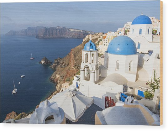 Oia Views, Santorini Greece Wood Print