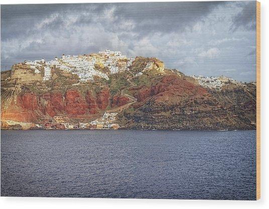 Oia Village Santorini Wood Print