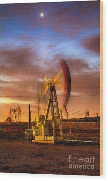 Oil Rig 1 Wood Print