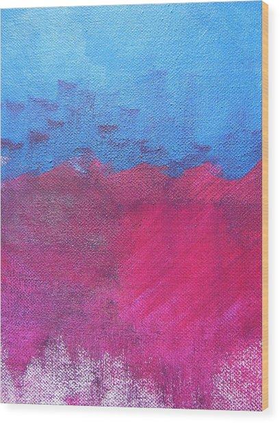 Oil Wave Wood Print by Lindie Racz