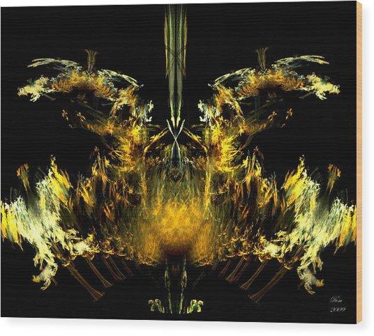 Oiseau De Feu Wood Print by Dom Creations