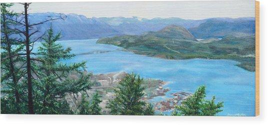 Okanagan Blue Wood Print