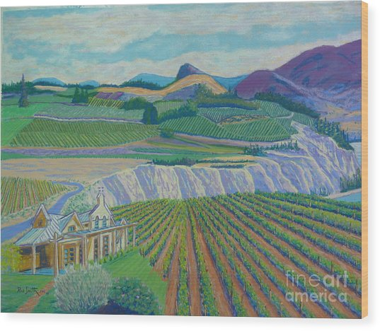Okanagan Valley Wood Print by Rae  Smith PSC