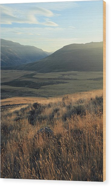 Okanagan Valley Warm Glow Wood Print by Pierre Leclerc Photography